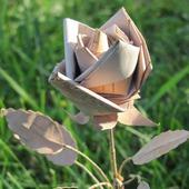 Роза из бересты