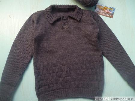Пуловер поло для мальчика ручной работы на заказ