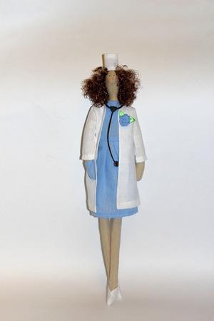 Кукла Тильда Доктор ручной работы на заказ