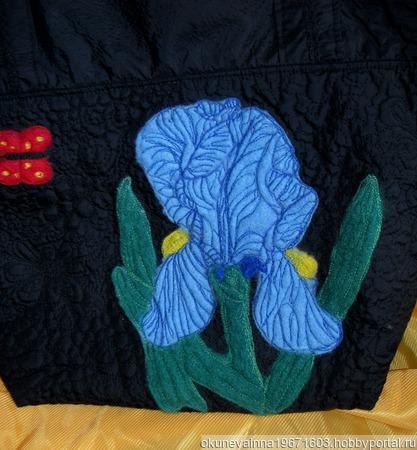Синий ирис ручной работы на заказ