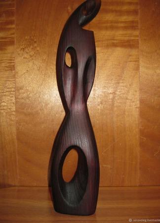 """Скульптура из дерева """"Лилит"""" ручной работы на заказ"""