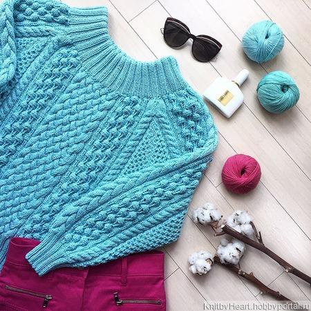 Вязаный свитер оверсайз из хлопка ручной работы ручной работы на заказ