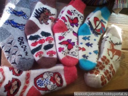 Носки детские - подростковые круговые без шва ручной работы на заказ