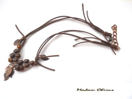 Нарядное колье  Кофейная бабочка ручной работы на заказ