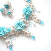 Серебристо - голубое  украшение