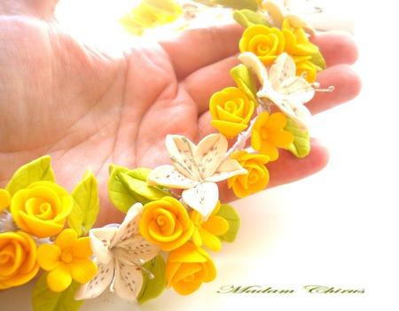 Комплект с лилиями и розами Дарю веснушки ручной работы на заказ
