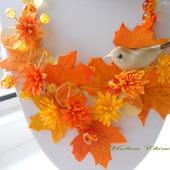 Необычное украшение из полимерной глины. Осень