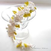 Свадебные колье и серьги  Нежность в белом