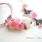 Комплект с розовым кварцем Фантазия
