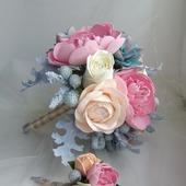 Букет Невесты + бутоньерка для Жениха
