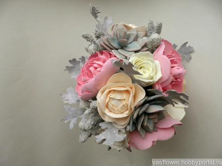 Букет Невесты + бутоньерка для Жениха ручной работы на заказ