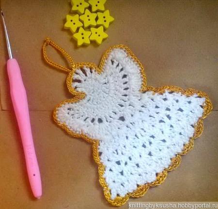 Рождественский ангел ручной работы на заказ