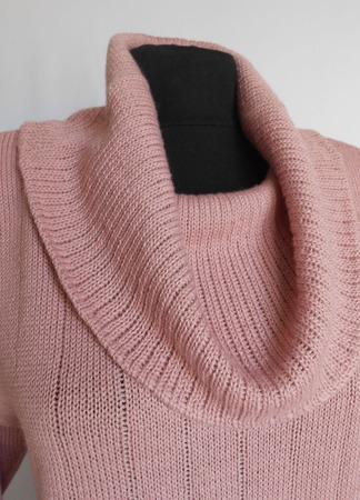 Джемпер цвета Пыльной Розы, полушерстяной ручной работы на заказ
