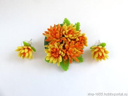 Комплект Оранжевое лето ручной работы на заказ