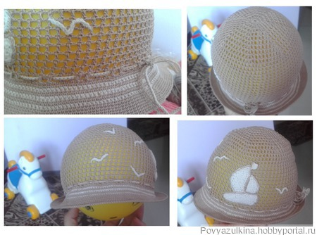 """Летняя шапочка """"Кораблик"""" ручной работы на заказ"""