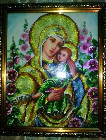 """Икона Божьей Матери """"Умиление"""" ручной работы на заказ"""