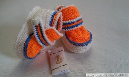 Пинетки ботиночки ручной работы на заказ
