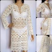 Туника пляжная из хлопка, пляжное платье