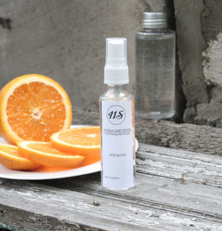 """Тоник для лица """"Апельсиновая вода"""", для сухой кожи ручной работы на заказ"""