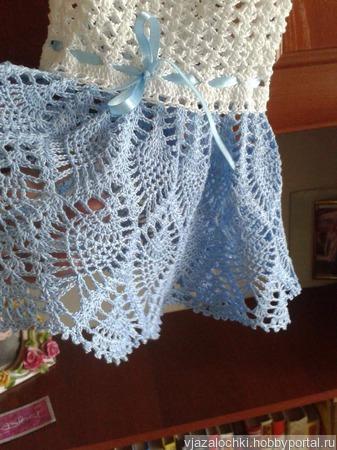 Вязанное платье ручной работы на заказ