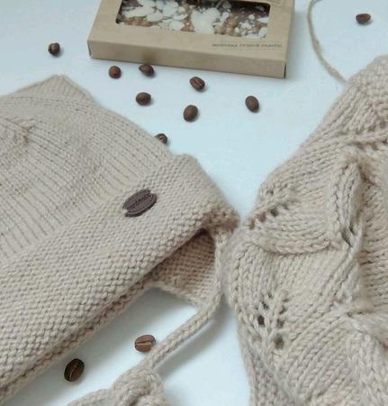 Комплект шапка Котошапка и снуд, осень-весна ручной работы на заказ
