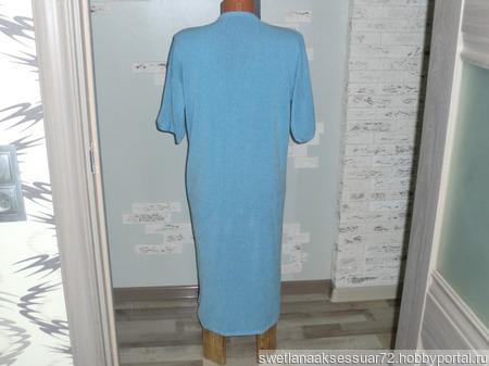Домашний халатик вязаный с перламутровыми пуговица ручной работы на заказ