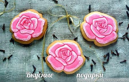 Пряничная роза ручной работы на заказ