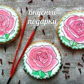 Пряник с изображением розы