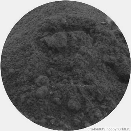 Минеральные тени для бровей с шелком № 40, тон темно-серый (5 мл) ручной работы на заказ