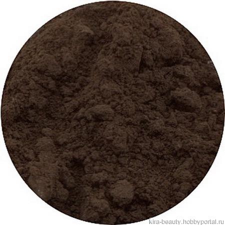 Минеральные тени для бровей с шелком № 39, тон темно-коричневый (5 мл) ручной работы на заказ