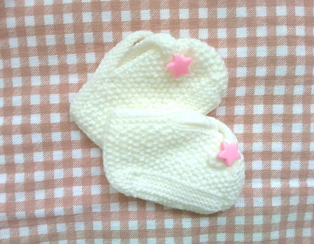 Вязаные пинетки для новорожденных ручной работы на заказ