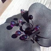 """Брошь """"Черная орхидея"""""""