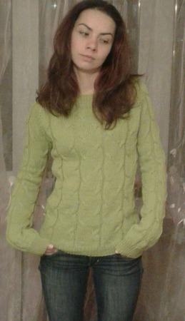 Пуловер Дижонская горчица ручной работы на заказ