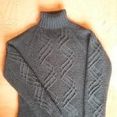 Схема узора Зигзаг к мужскому свитеру