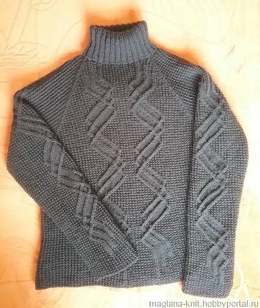 Схема узора Зигзаг к мужскому свитеру ручной работы на заказ
