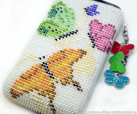 Чехол для телефона Лето Бабочки ручной работы на заказ