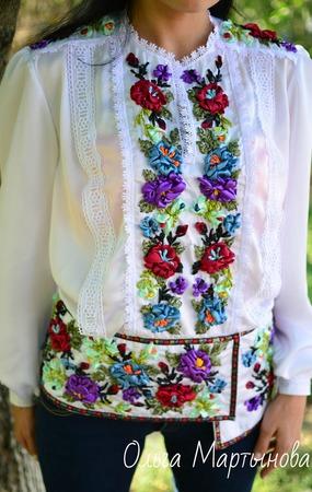 """Блуза"""" Вальс цветов"""" ручной работы на заказ"""