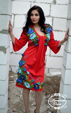 """Платье""""Леди в красном"""" ручной работы на заказ"""