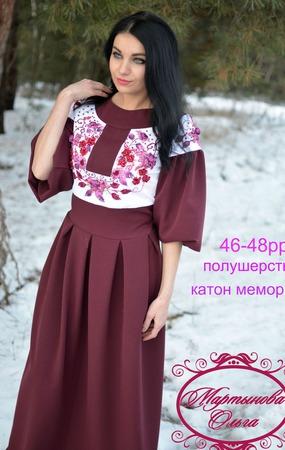 """Платье""""Бордовая россыпь"""" ручной работы на заказ"""