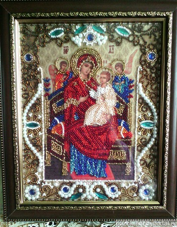 Икона Пресвятой Богородицы «Всецарица» («Пантанасса») ручной работы на заказ