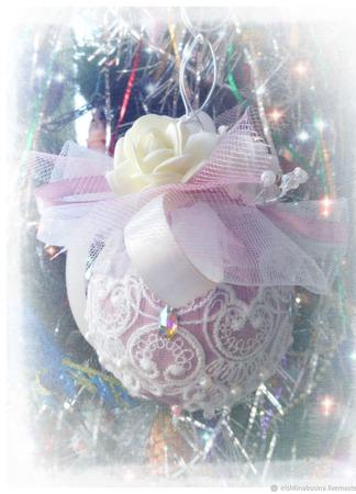 Новогодний шар-повеска ручной работы на заказ