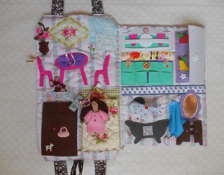 Сумка домик для куклы ручной работы на заказ