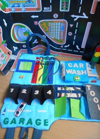Сумка-автозаправка для мальчиков ручной работы на заказ