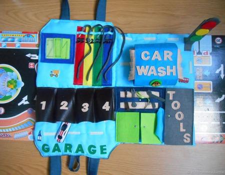 Гараж-сумка для мальчиков ручной работы на заказ