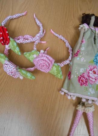 Ободок Тильда для девочки ручной работы на заказ
