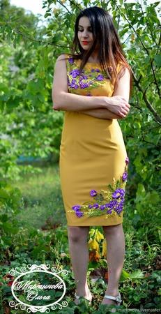 """Платье"""" Изысканый шарм"""", ручной работы на заказ"""