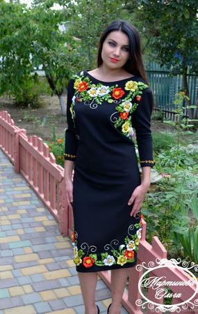 """Платье """" Осенний вальс"""" ручной работы на заказ"""