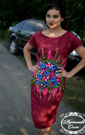 """Платье"""" Марсель"""" ручной работы на заказ"""