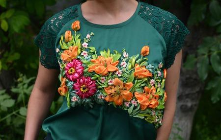 """Блуза """"Лилии в цвету"""" ручной работы на заказ"""