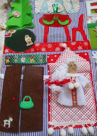 Сумка-домик помощницы Санты ручной работы на заказ